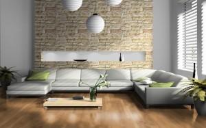 Vinyl vloeren in een woonkamer