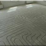 Frezen van een vloer voor vloerverwarming!